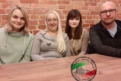 Zebranie lektorów. Odlewej: Gosia, Ola, Sylwia iKuba
